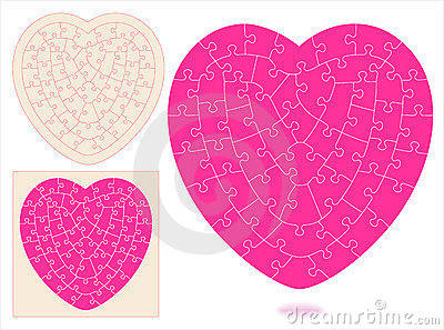 Heart-shaped jigsaw puzzle