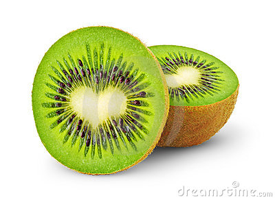 Heart-shaped kiwi fruit