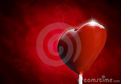 Heart-shaped lollipop hit by an arrow