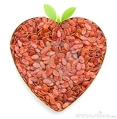 Free Heart Shaped Melon Seeds Royalty Free Stock Photography - 23212887