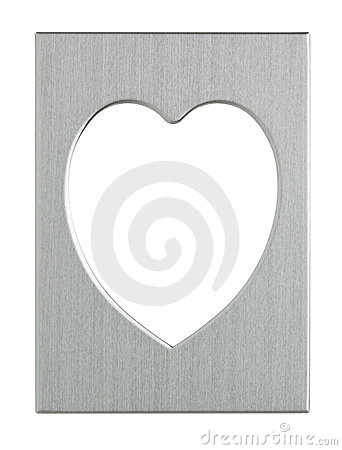 Heart-shaped metal picture frame with clipping pat