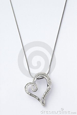 Free Heart-shaped Necklace Royalty Free Stock Photo - 20359305