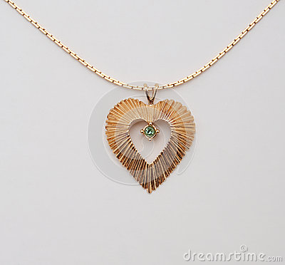 Heart Shaped Gold Necklace