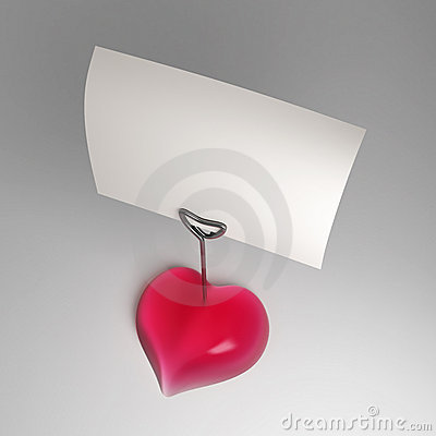 A heart shaped note holder