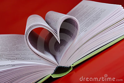 Heart-shaped pages.