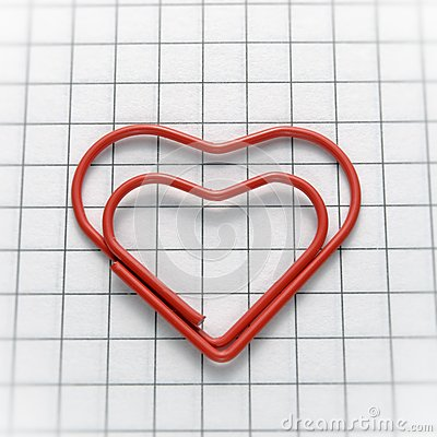 Heart shaped paper clip