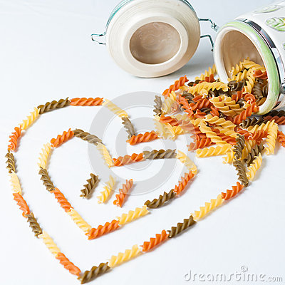 Heart-shaped pasta