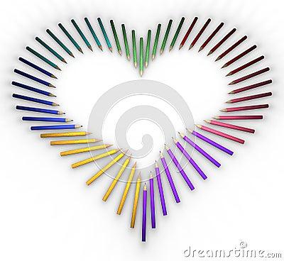 Heart-shaped pencils