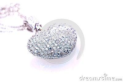 Heart shaped pendant close up