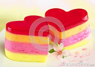 Heart-Shaped Peruvian Cake Called Torta Helada