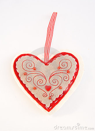 Heart shaped pin cushion.