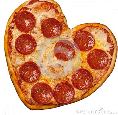Free Heart Shaped Pizza For Valentine S Day Royalty Free Stock Image - 68574946