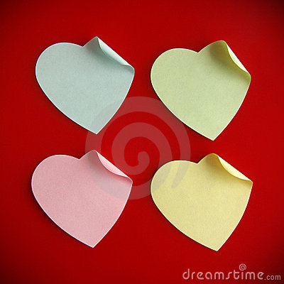 Free Heart Shaped Post It Royalty Free Stock Photos - 17853958