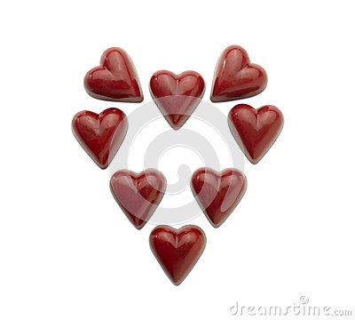Heart-shaped praline (clipping path)