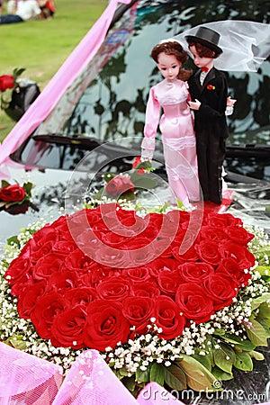 Heart-shaped roses