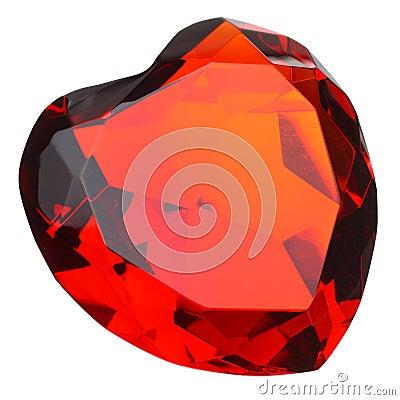 Free Heart Shaped Ruby Gemstone Stock Photo - 8010760
