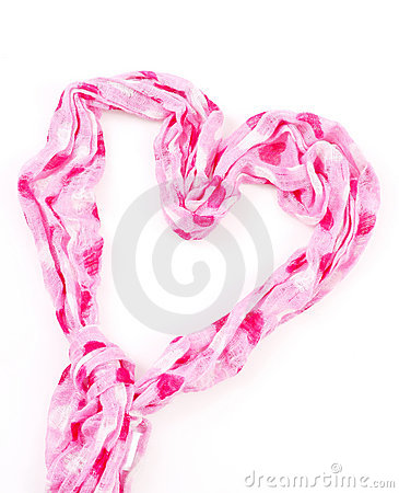 Free Heart Shaped Scarf Stock Images - 21790374