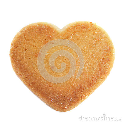 Heart-shaped shortbread biscuit