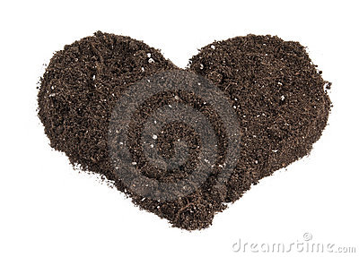 Heart shaped soil