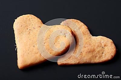 Heart shaped St. Valentine biscuits
