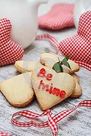 Free Heart Shaped Sugar Cookies Stock Photo - 28654290