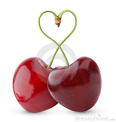 Free Heart-shaped Sweet Cherry Royalty Free Stock Image - 17714486