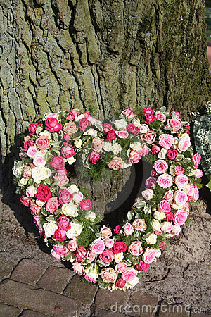 Free Heart Shaped Sympathy Floral Arrangement Royalty Free Stock Photos - 19048188