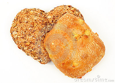 Heart shaped wholemeal bun