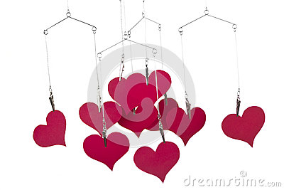 Heart shapes hanging