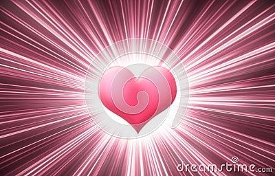 Stock Photo: Heart shine