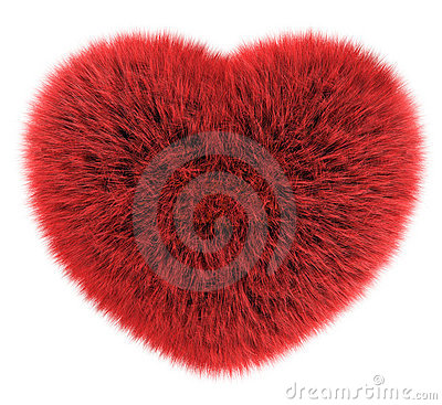 Heart of smooth hair