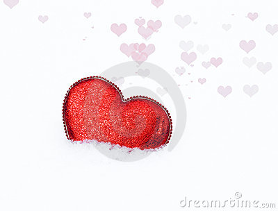 Heart in snow 2
