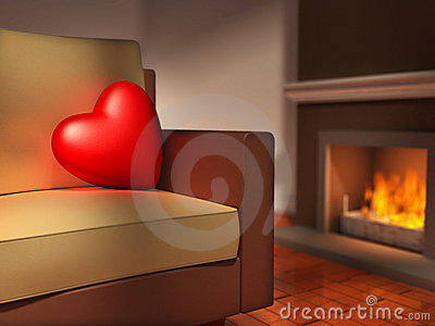 Heart on a sofa