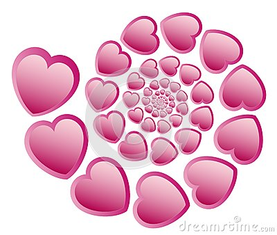 Heart spiry pattern