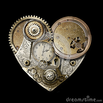 Heart of Steampunk Isolated