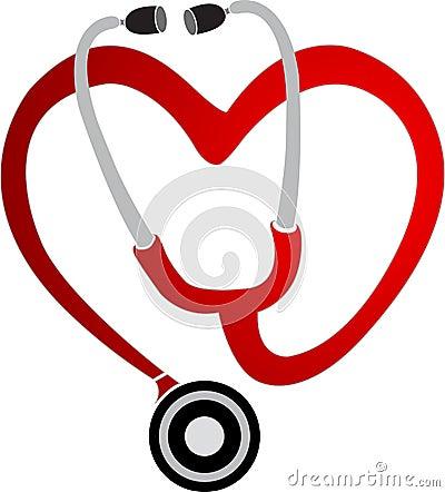 Heart stethoscope logo