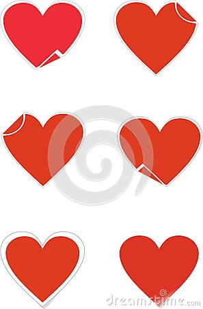 Heart sticker icons