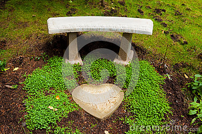 Heart Stone Bench