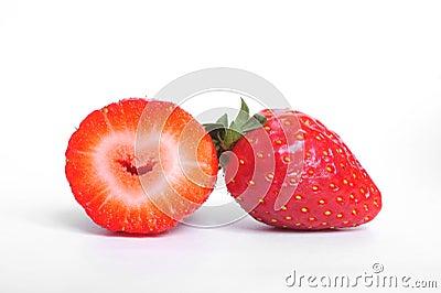 heart in strawberry