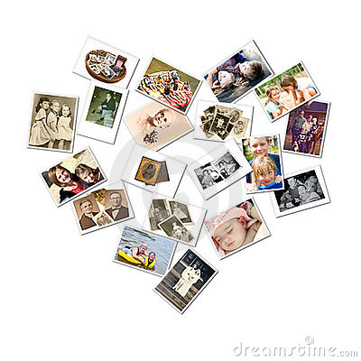 Free Heart Style Collage/Family Photos Stock Photography - 11571862
