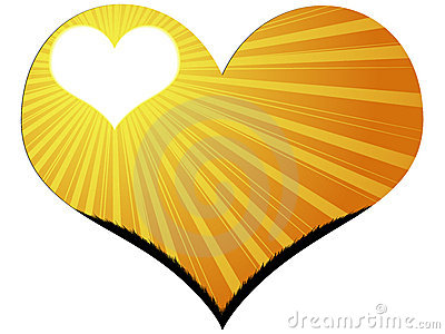 Heart with sunshine
