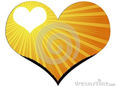 Heart with sunshine