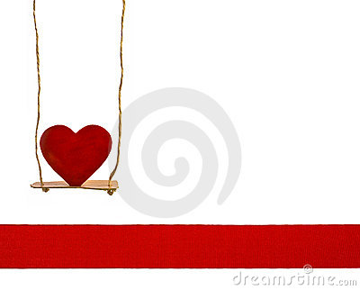 Heart on a swing
