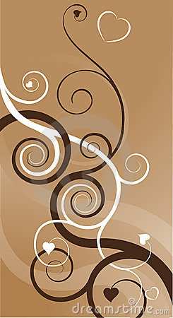 Free Heart Swirls Abstract Backgrou Royalty Free Stock Photo - 4730865