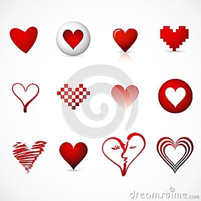 Heart symbols / icons