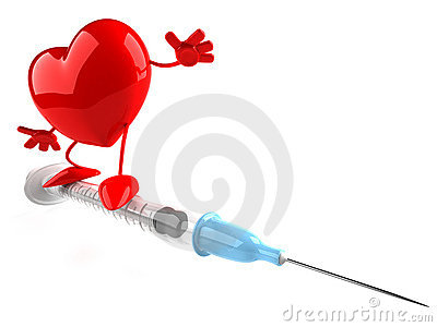 Heart with a syringe