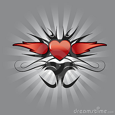 Free Heart Tattoo Design Stock Images - 4651874