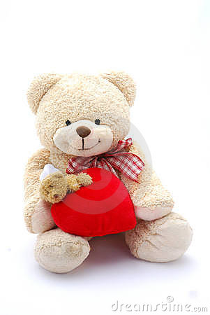 Free Heart Teddy Bear Stock Images - 8202164