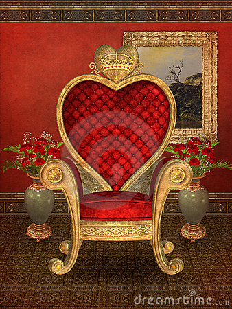 Heart Throne Stock Photo Image 13716680