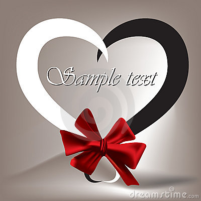 Free Heart Tied With Red Ribbon Stock Photo - 17925700